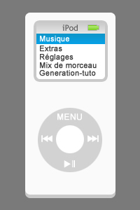 Tuto Photoshop pour faire un Ipod Nano G1 Apple