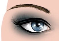 Tuto Photoshop dessiner un oeil